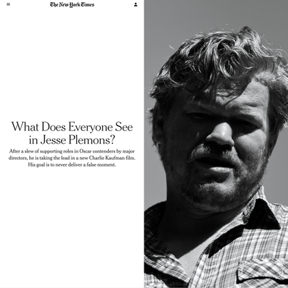 What Does Everyone See in Jesse Plemons?