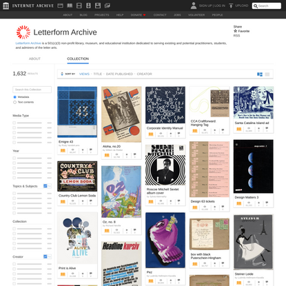 Letterform Archive : Free Texts : Free Download, Borrow and Streaming : Internet Archive