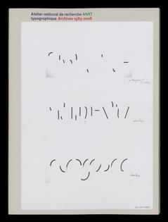 Catalogue, ANRT Archives 1985–2006 Design graphique: Huz & Bosshard