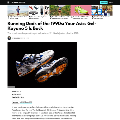 Running Dads of the 1990s: Your Asics Gel-Kayano 5 Is Back