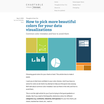 How to pick more beautiful colors for your data visualizations