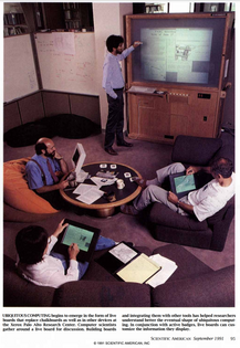 A meeting at the Xerox Palo Alto Research Center in 1991