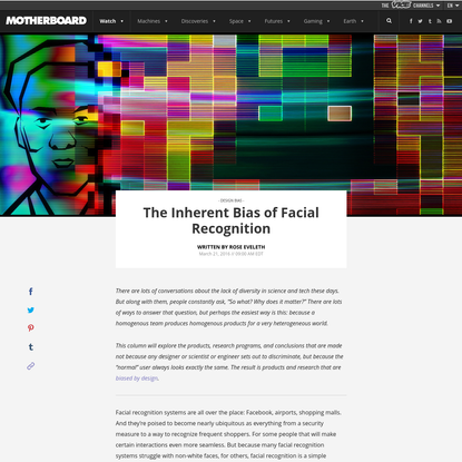 The Inherent Bias of Facial Recognition