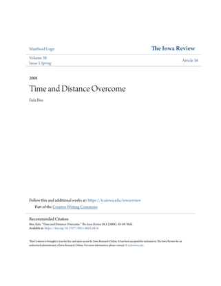 Time and Distance Overcome (Eula Biss)