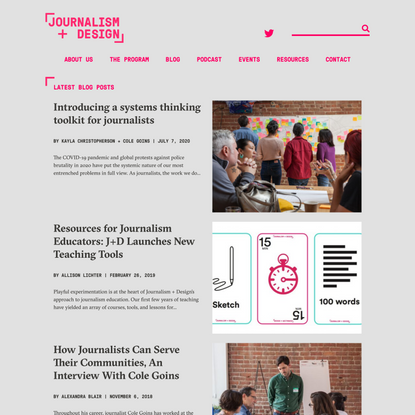 Home | Journalism + Design