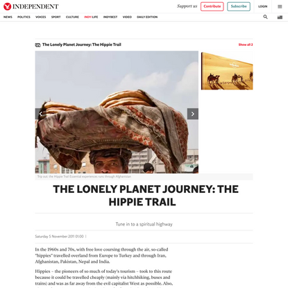 The Lonely Planet Journey: The Hippie Trail