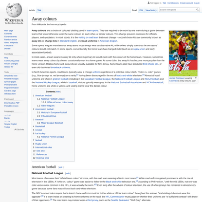 Away colours - Wikipedia