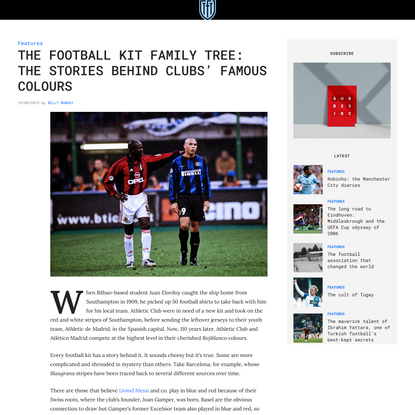 The football kit family tree: the stories behind clubs' famous colours
