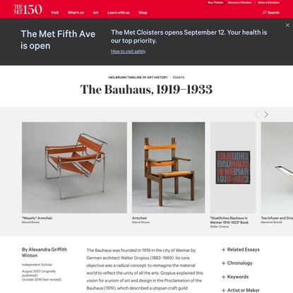 The Bauhaus, 1919–1933   Essay   The Metropolitan Museum of Art   Heilbrunn Timeline of Art History