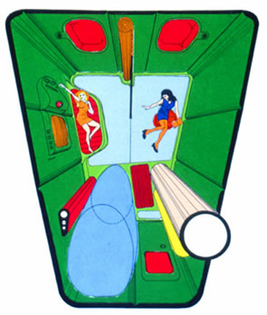 Archigram designer Warren Chalk's capsule home (1964)