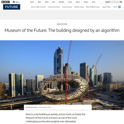Museum of the Future: The building designed by an algorithm