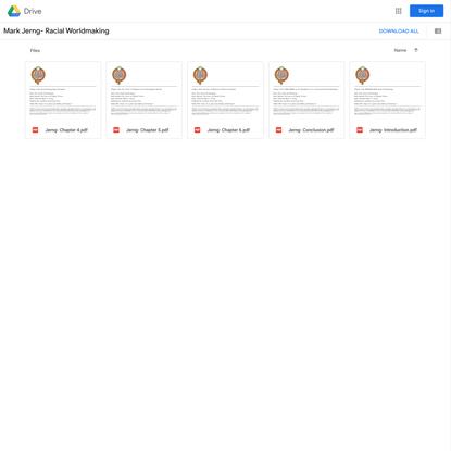 Mark Jerng- Racial Worldmaking - Google Drive