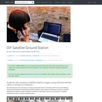 DIY Satellite Ground Station