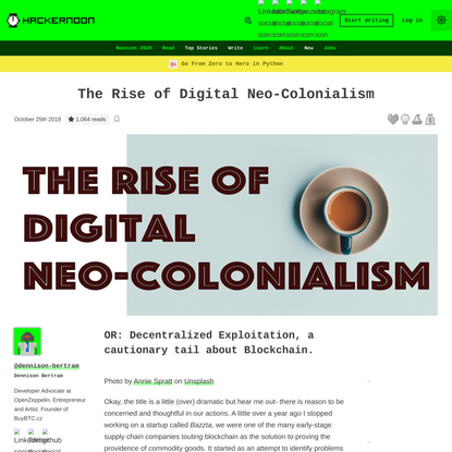 The Rise of Digital Neo-Colonialism | Hacker Noon