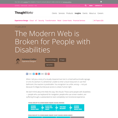 The Modern Web is Broken for People with Disabilities