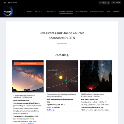 Courses - Deeptime Network