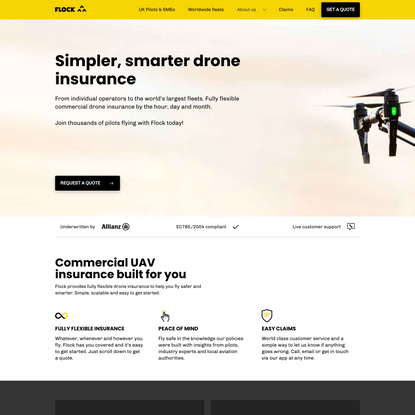 Flock Cover   Specialist Drone Insurance