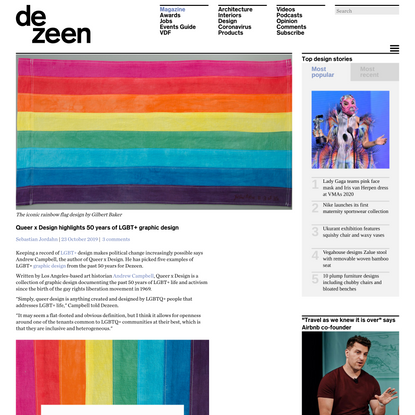 Queer x Design highlights 50 years of LGBT+ activism