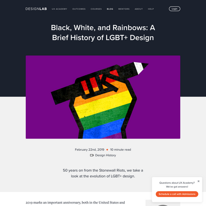 Black, White, and Rainbows: A Brief History of LGBT+ Design