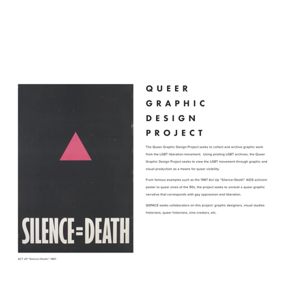 QUEER GRAPHIC DESIGN PROJECT — QSPACE