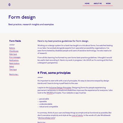 Research insights and thinking on form design
