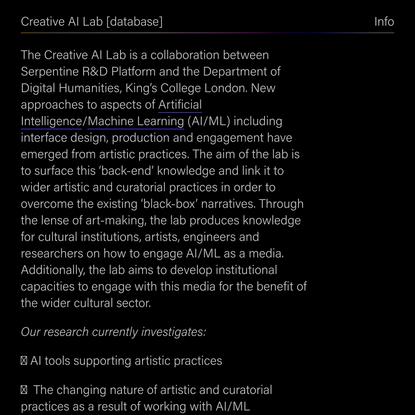 Creative AI Lab