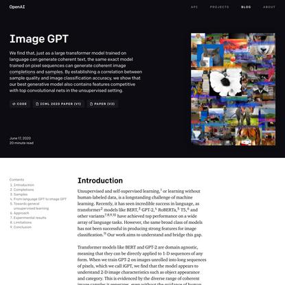 Image GPT