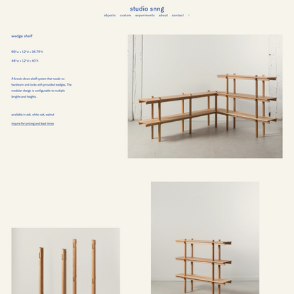 studio snng - wedge shelf
