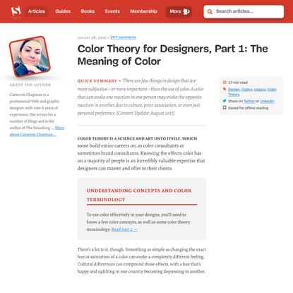 Color Theory for Designers, Part 1: The Meaning of Color — Smashing Magazine