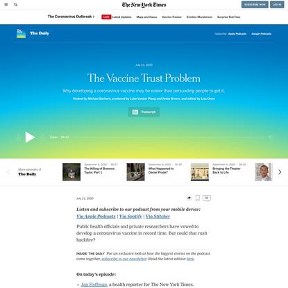 The Vaccine Trust Problem