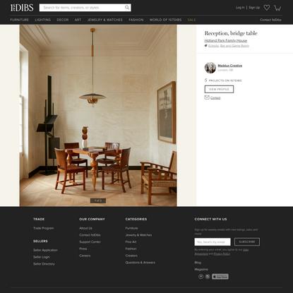 Reception, bridge table by Maddux Creative on 1stDibs