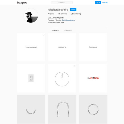Luis A. Díaz-Alejandro is on Instagram • 75 posts on their profile