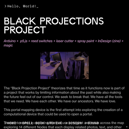 Black Projections - Page — CYBERWITCH