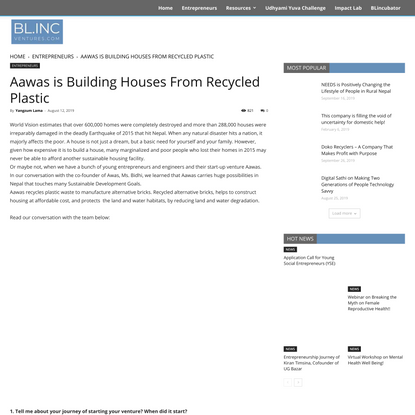 Aawas is Building Houses From Recycled Plastic   Blinc Ventures