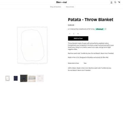 Patata - Throw Blanket