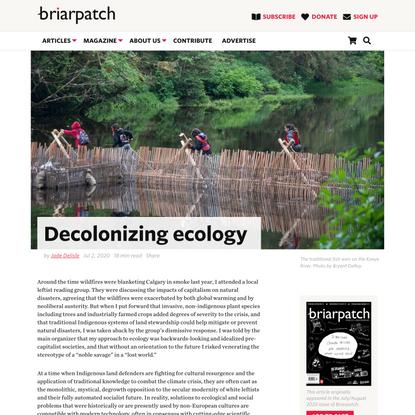 Decolonizing ecology