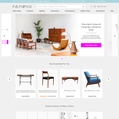 Vintage and Contemporary Furniture and Lighting Online