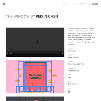 The Window by Peixin Chen