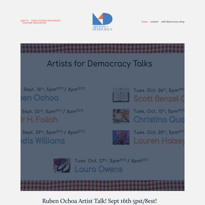 ARTISTS FOR DEMOCRACY