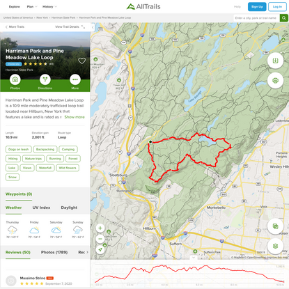 Harriman Park and Pine Meadow Lake Loop