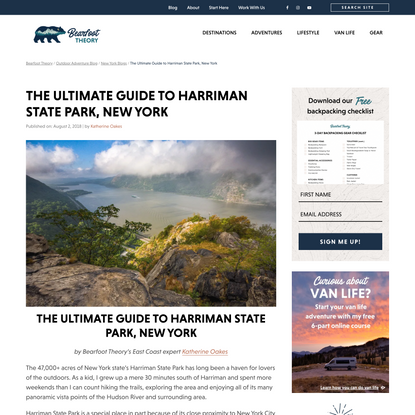 The Ultimate Guide to Harriman State Park, New York – Bearfoot Theory