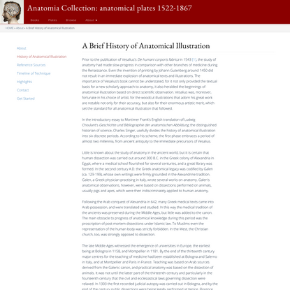 A Brief History of Anatomical Illustration   Anatomia Collection: anatomical plates 1522-1867