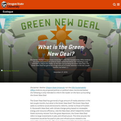 What is the Green New Deal?