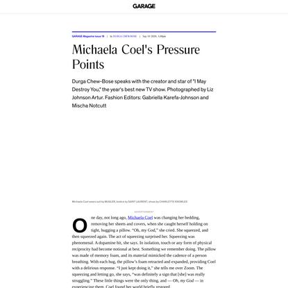 Michaela Coel's Pressure Points - GARAGE