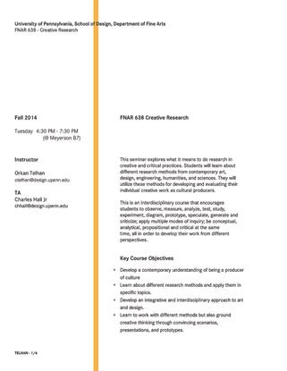 UPENN FNAR 638 - Creative Research