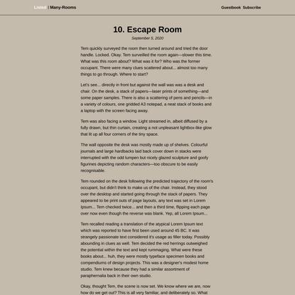 10. Escape Room