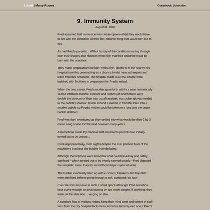 9. Immunity System