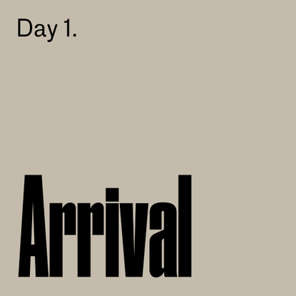 1. Arrival