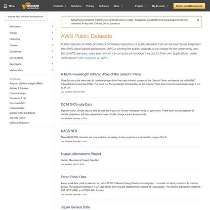 AWS Public Datasets