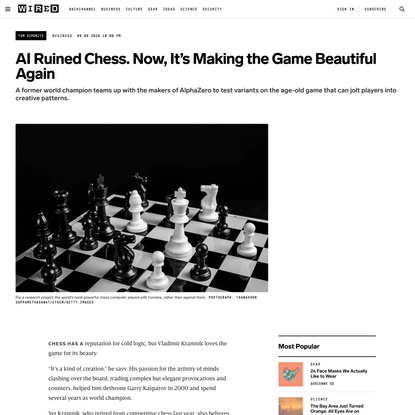 AI Ruined Chess. Now, It's Making the Game Beautiful Again